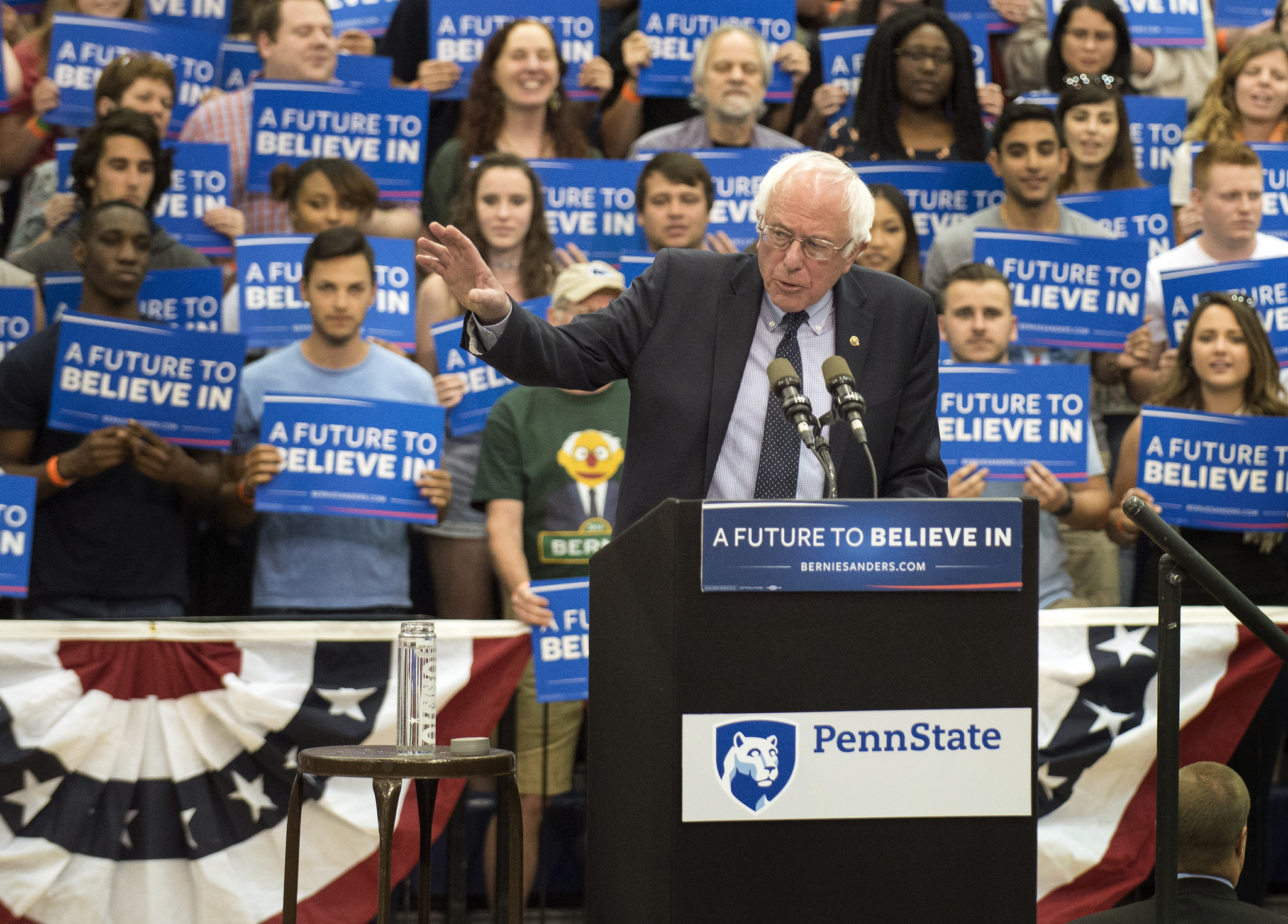 """[Sanders] has brought millions of young people into politics. According to CIRCLE, more youth have voted for Sanders than for Clinton and Trump combined,"" writes Christopher Beem in a recent Fortune article. Photo credit: Penn State"